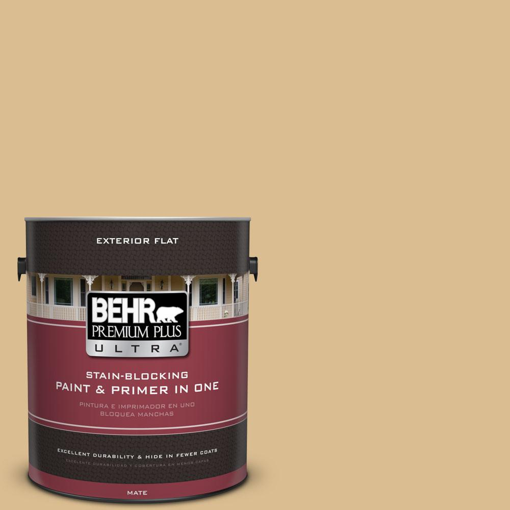 BEHR Premium Plus Ultra 1-gal. #340F-4 Expedition Khaki Flat Exterior