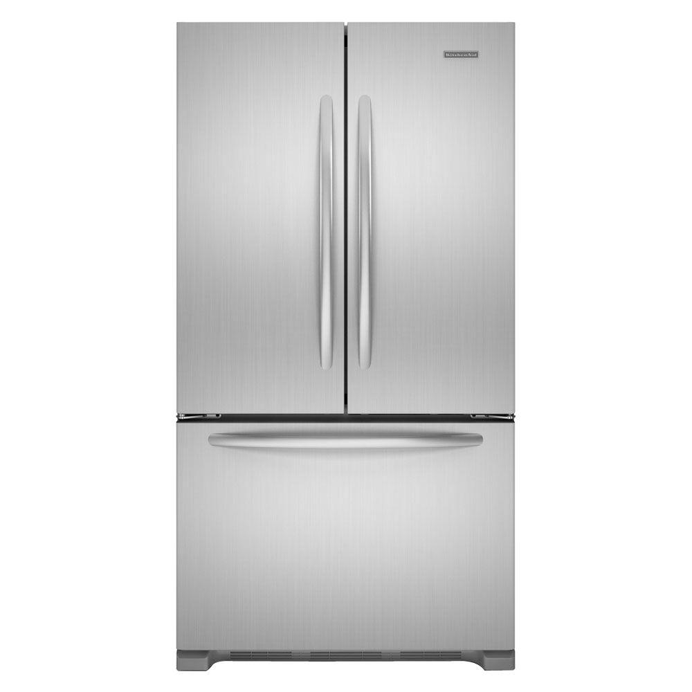 KitchenAid Architect Series II 21.9 cu. ft. French Door Refrigerator in Monochromatic Stainless Steel, Counter Depth