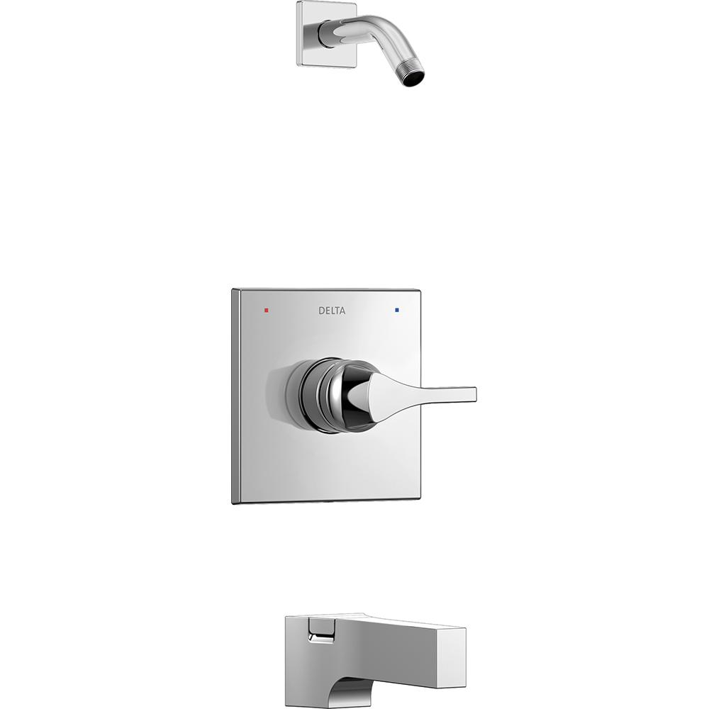 Delta Zura 1-Handle Tub and Shower Faucet Trim Kit in Chrome ...