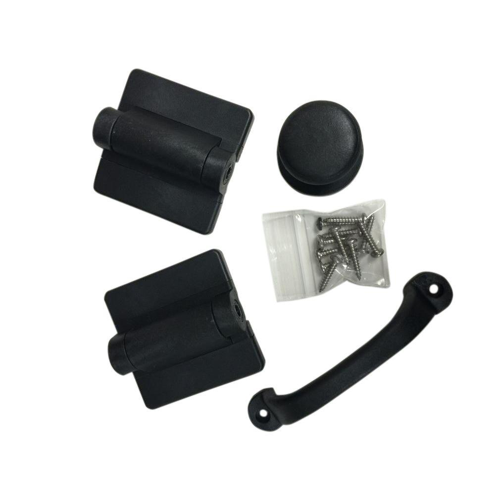 Black Heavy Duty Screen Door Hardware Kit-SDHWBK - The Home Depot