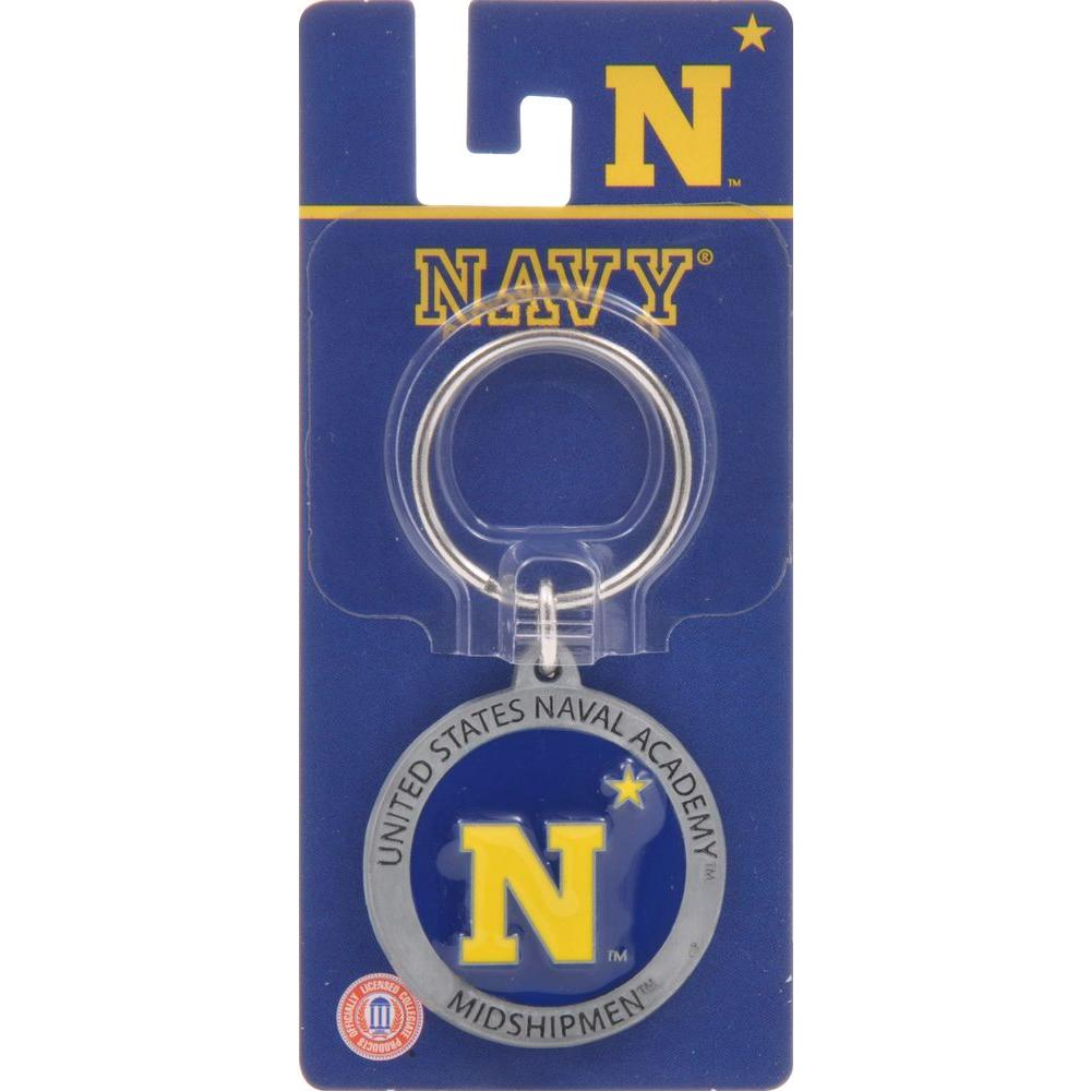 The Hillman Group NCAA Naval Academy Key Chain in Navy (3-Pack)