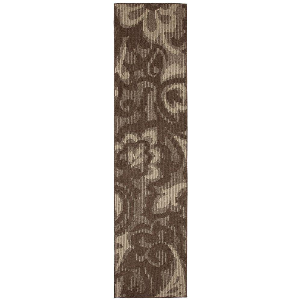 Mohawk Home Forte Dark Coco Taupe 2 ft. x 8 ft. Rug Runner