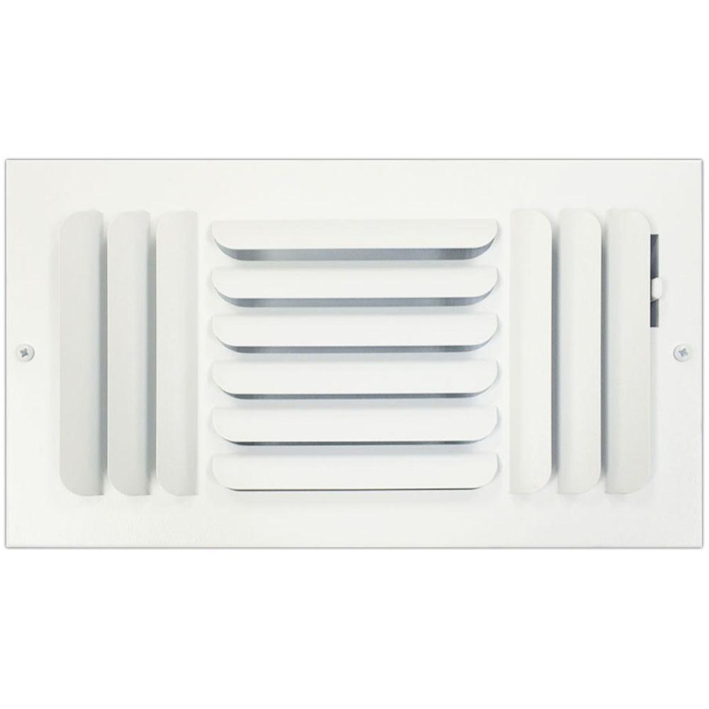 SPEEDI-GRILLE 6 in. x 12 in. Ceiling or Wall Register with