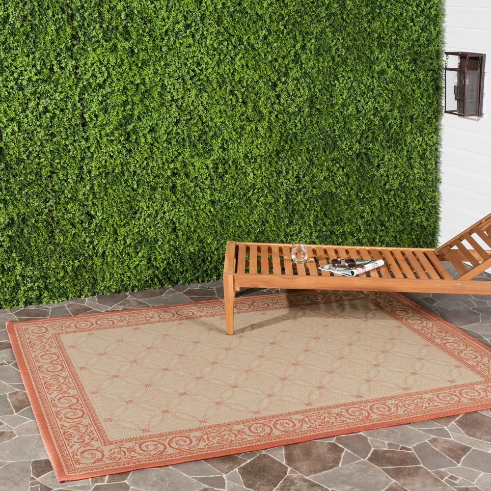 Safavieh Courtyard Natural/Terra 6 ft. 7 in. x 9 ft. 6