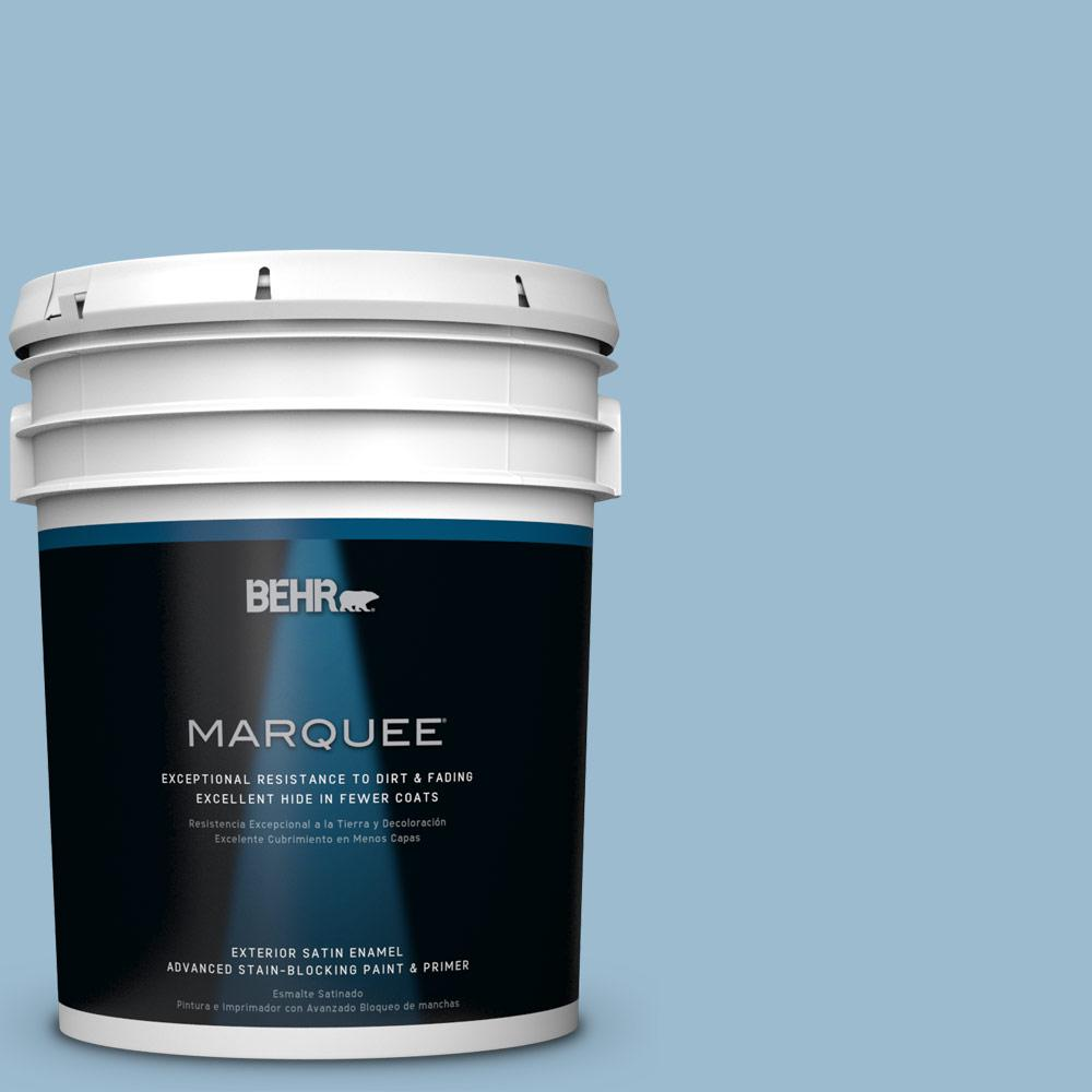 5-gal. #S500-3 Partly Cloudy Satin Enamel Exterior Paint