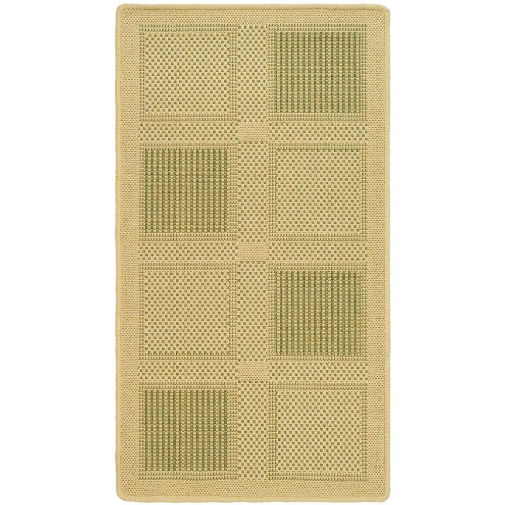 Courtyard Natural/Olive (Natural/Green) 2 ft. 7 in. x 5 ft. Indoor/Outdoor Area Rug Sale $36.47 SKU: 204829348 ID: CY1928-1E01-3 UPC: 683726282648 :