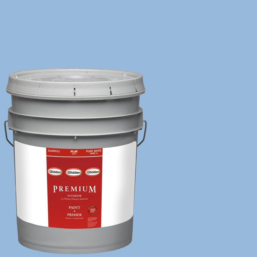 Glidden Premium 5-gal. #HDGV15 French Country Blue Flat Latex Interior Paint with Primer