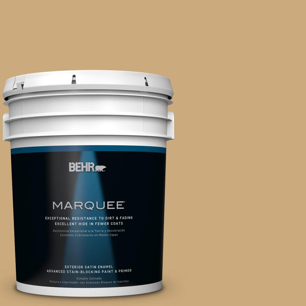 5-gal. #S300-4 Flax Straw Satin Enamel Exterior Paint