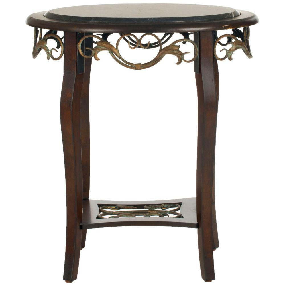 Safavieh Agnes Dark Brown Side Table-DISCONTINUED
