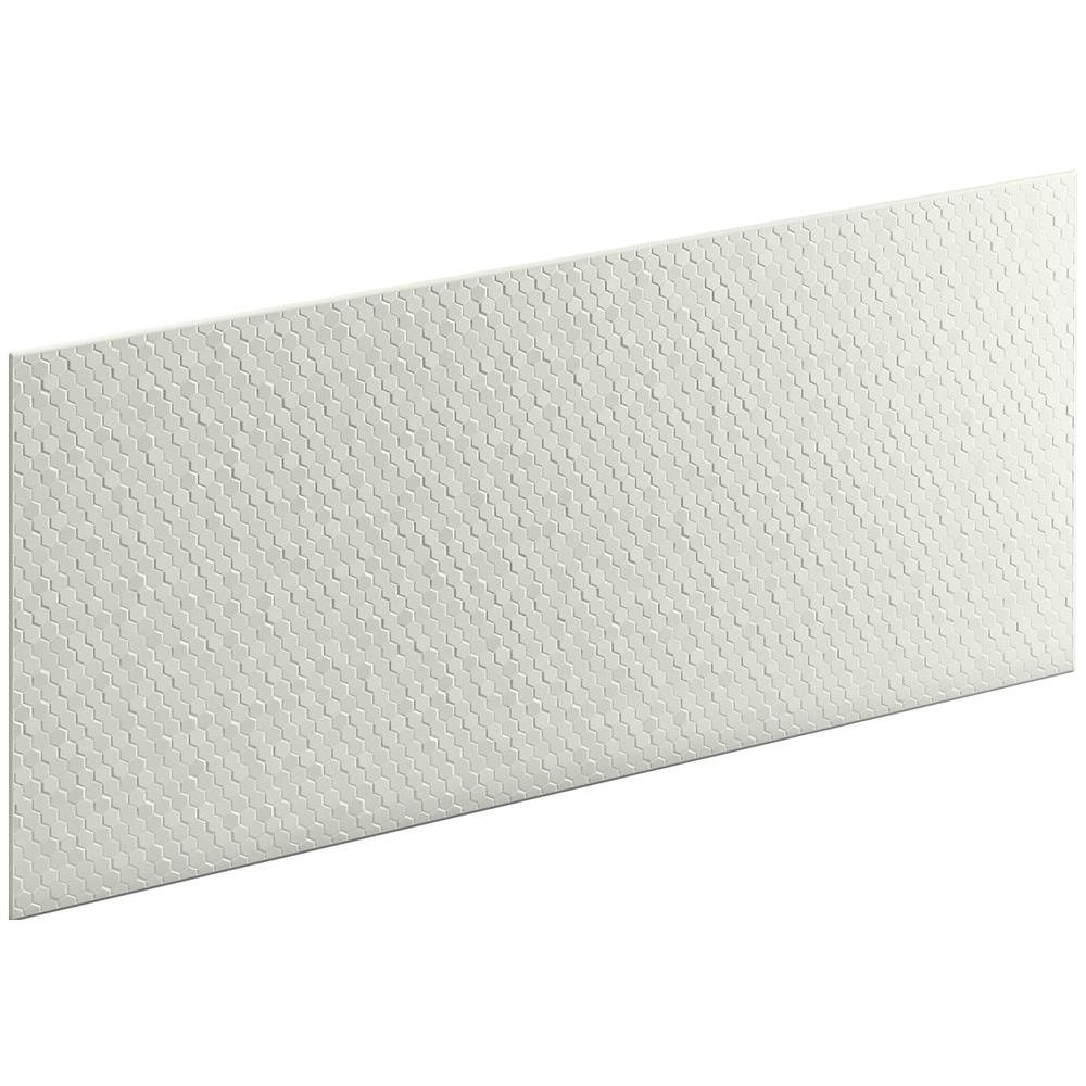 KOHLER Choreograph 0.3125 in. x 60 in. x 28 in. 1-Piece Shower Wall Panel in Dune with Hex Texture