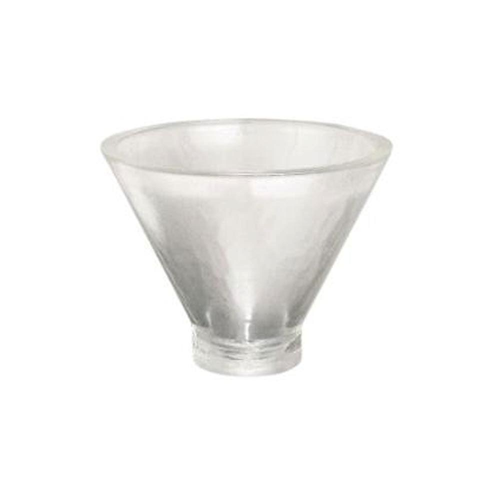 Porcher Geometrique Glass Cone Vessel Sink in Clear Glass-DISCONTINUED