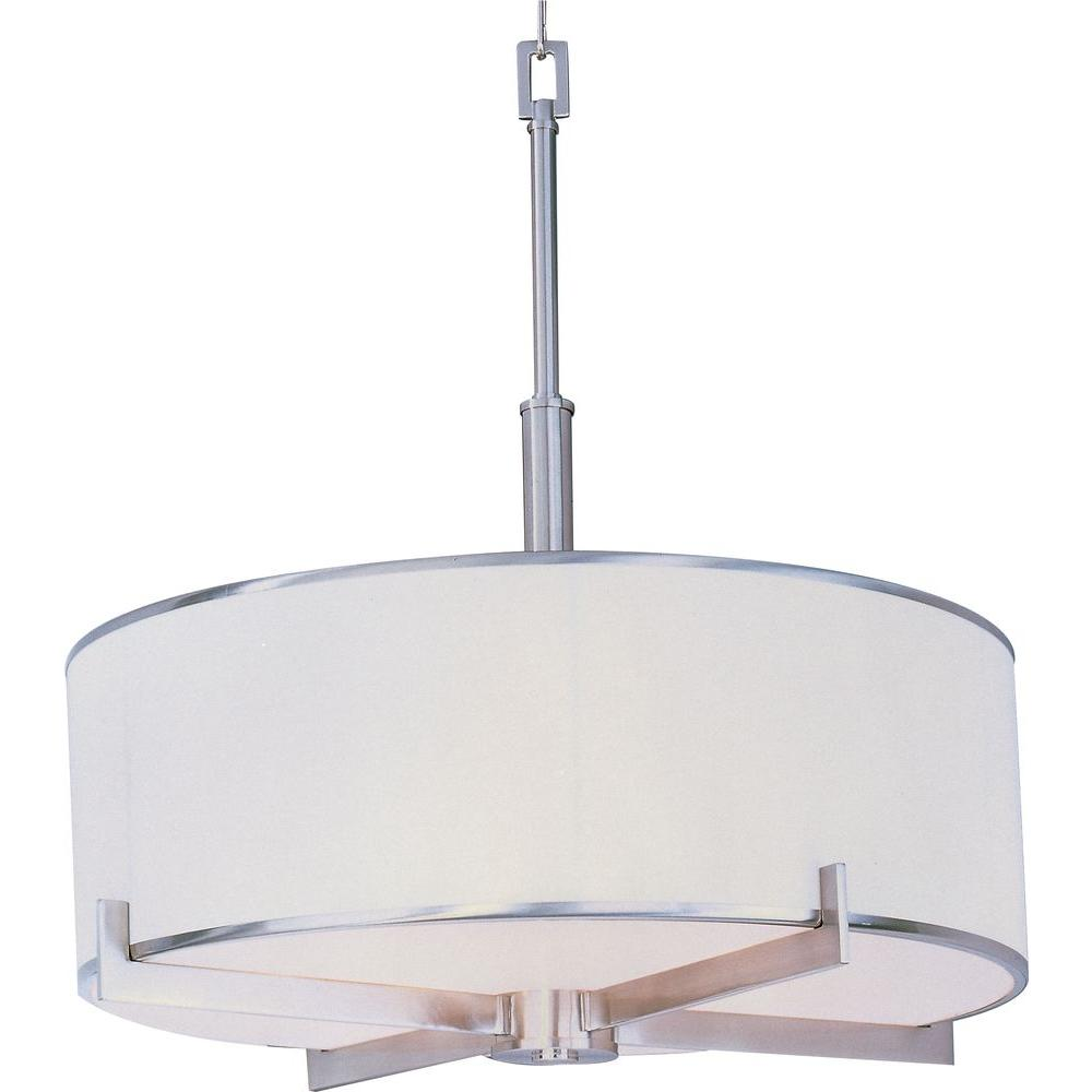 Maxim Lighting Nexus 4-Light Satin Nickel Pendant-12053WTSN - The Home Depot