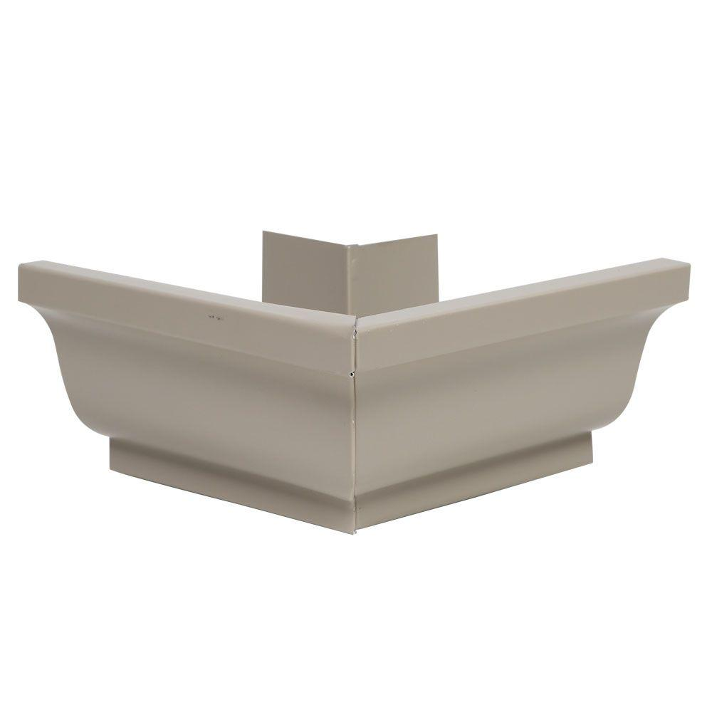 5 in. Natural Clay Aluminum Outside Gutter Miter