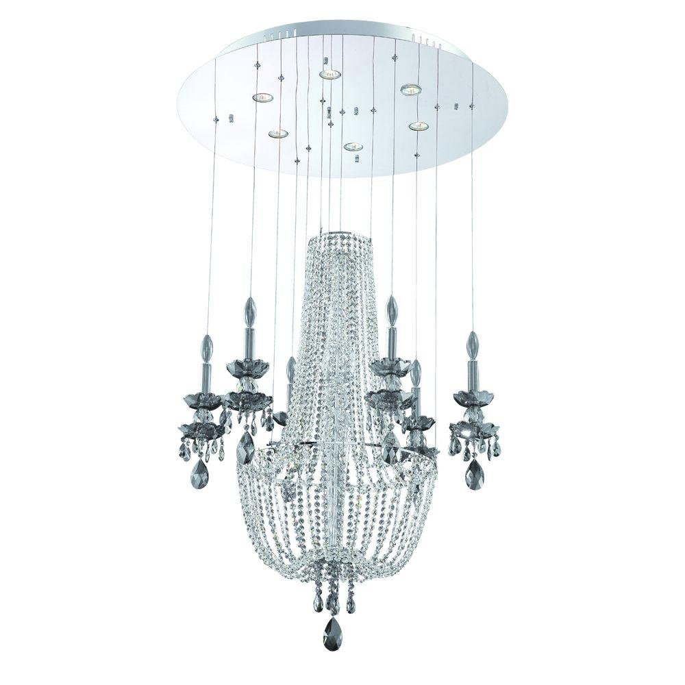 Eurofase Opera Collection 6-Light Chrome Chandlier-DISCONTINUED