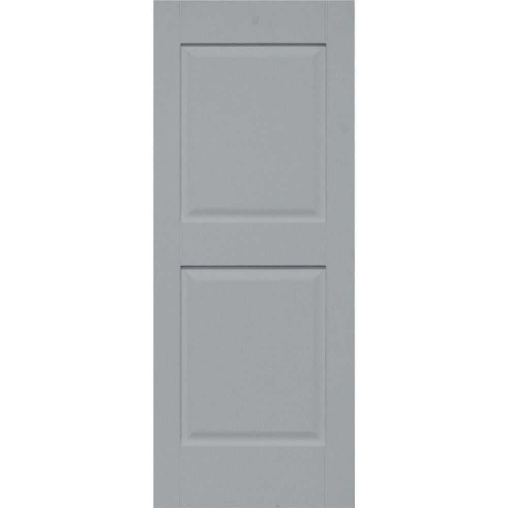 Home Fashion Technologies Plantation 14 in. x 29 in. Solid Wood Panel Exterior Shutters Behr Wood Iron