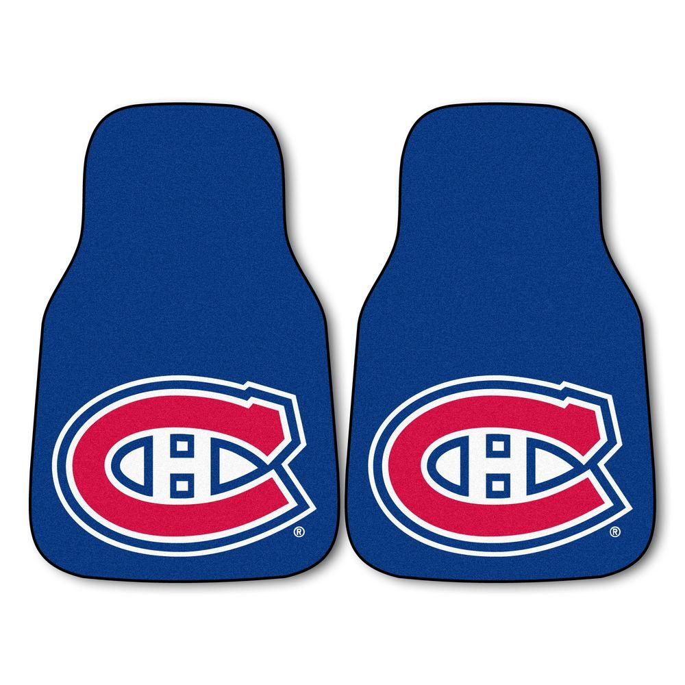 FANMATS Montreal Canadiens 18 in. x 27 in. 2-Piece Carpeted Car