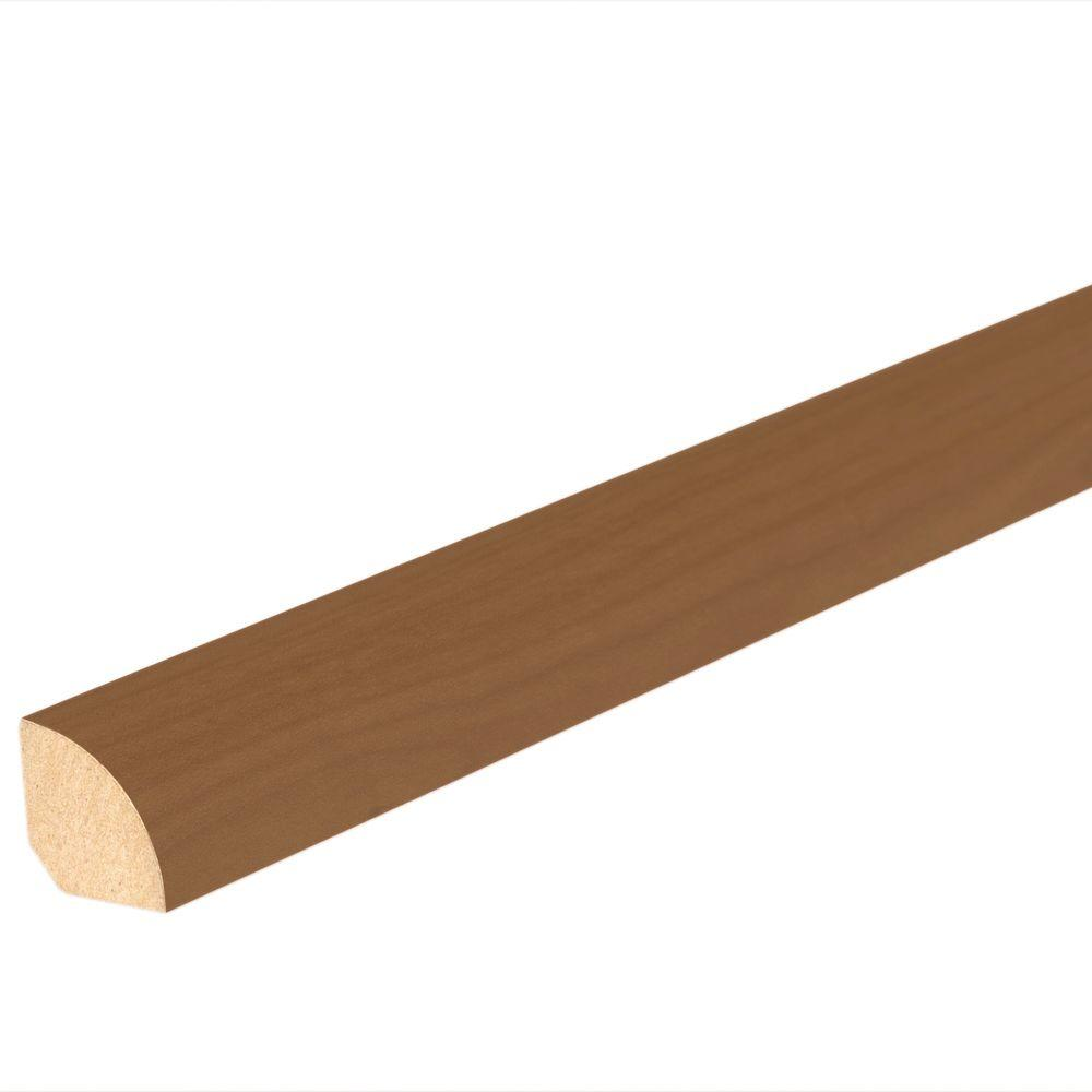 Mohawk Umbrian Walnut 3/4 in. Thick x 5/8 in. Wide x 94-1/2 in. Length Laminate Quarter Round Molding, Medium