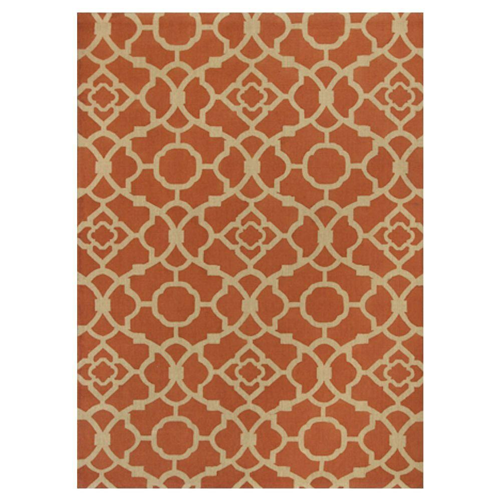 Kas Rugs Chateau Red/Beige 8 ft. x 10 ft. Area Rug