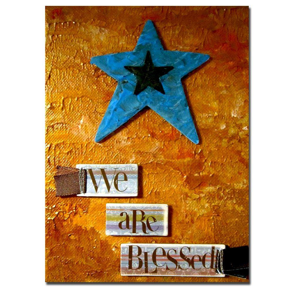 Trademark Fine Art 14 in. x 19 in. Star Canvas Art-AR007-C1419GG