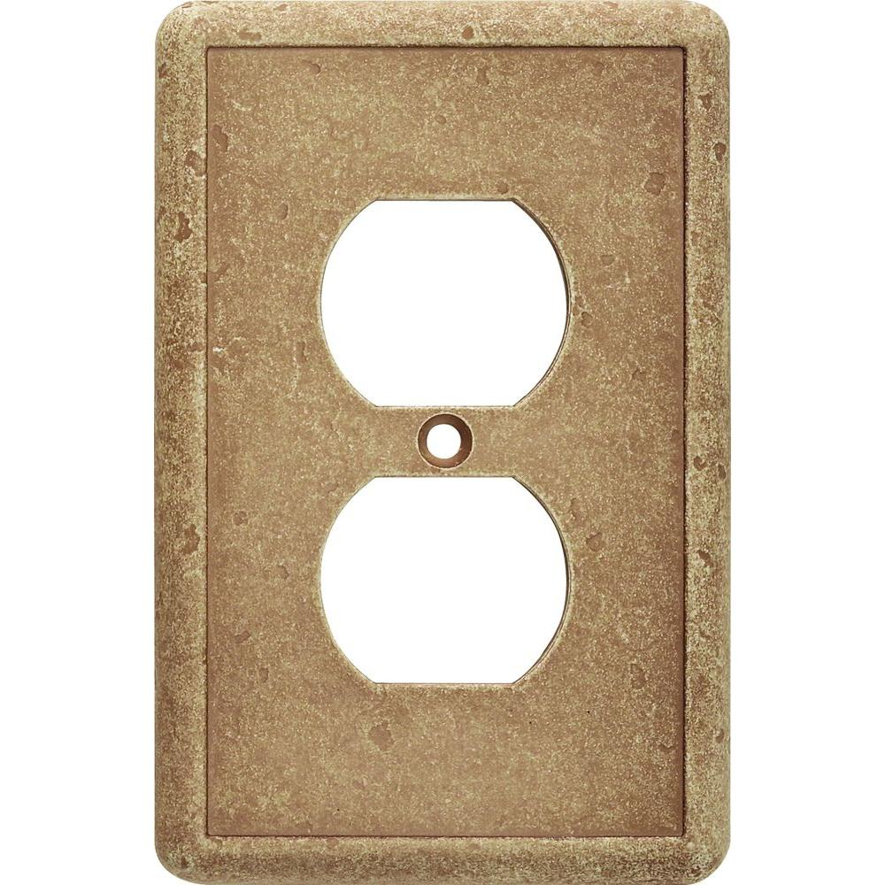Hampton Bay 1 Duplex Outlet Wall Plate in Noche-SWP101-02 - The