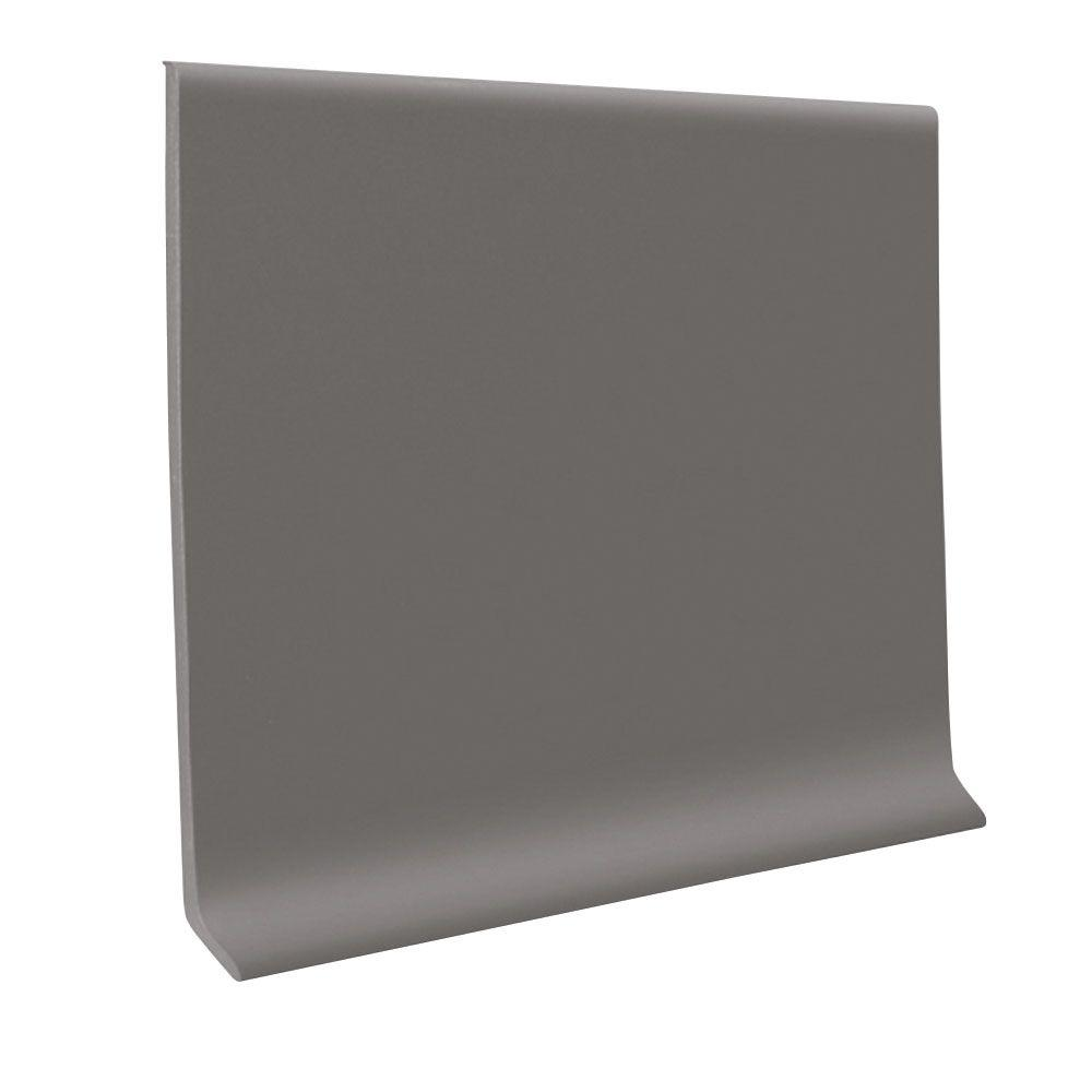 ROPPE 700 Series Dark Gray 4 in. x 1/8 in. x 120 ft. Thermoplastic Rubber Wall Cove Base Coil