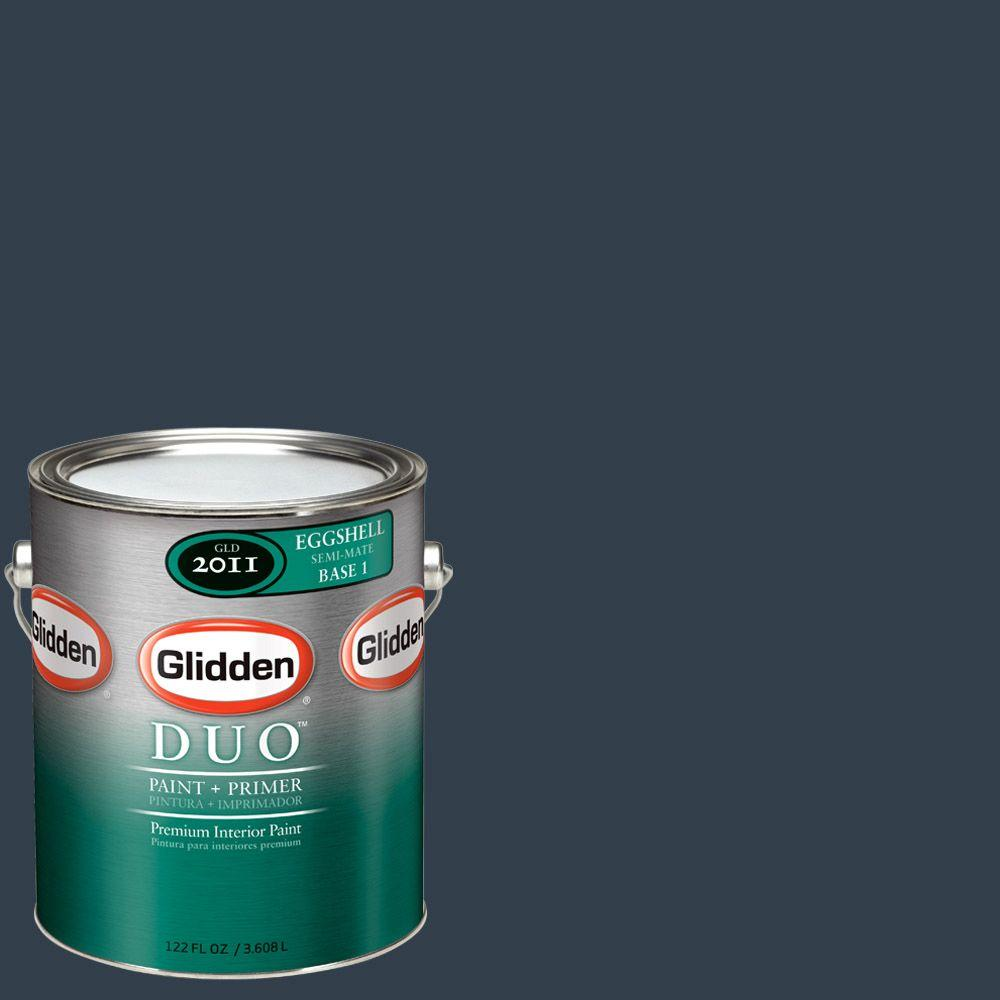 Glidden Team Colors 1-gal. #NFL-015A NFL Chicago Bears Blue Eggshell Interior Paint and Primer
