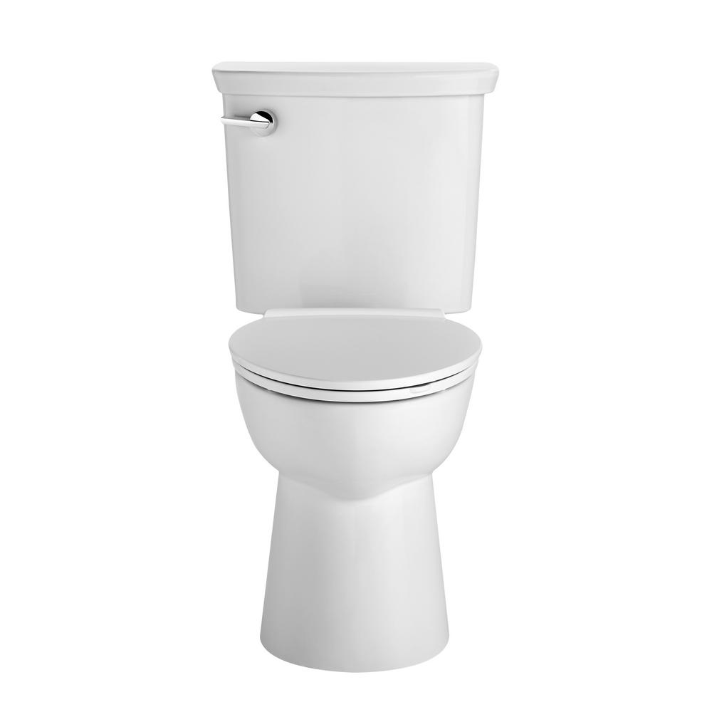 Vormax Right Height 2-Piece 1.28/1.6 GPF Single Flush Elongated Toilet in
