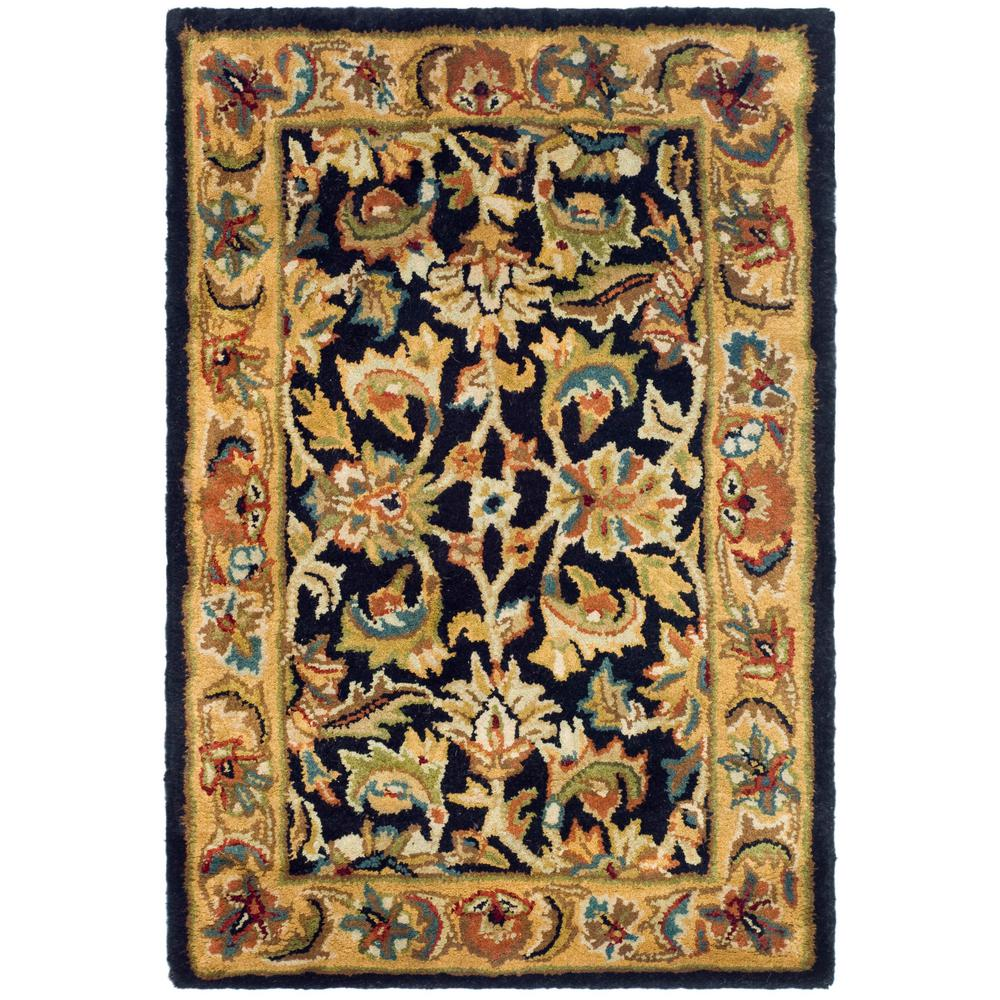 Classic Black/Gold 2 ft. x 3 ft. Area Rug