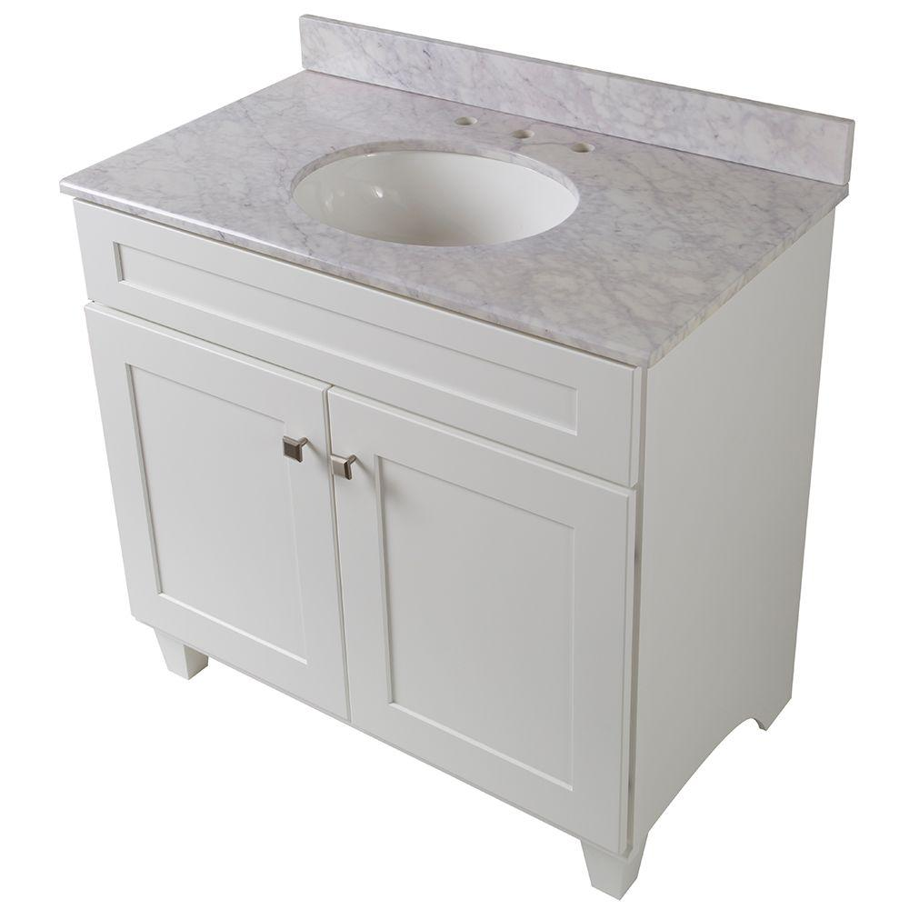 Home decorators collection creeley 37 in vanity in for Home decorators vanity top