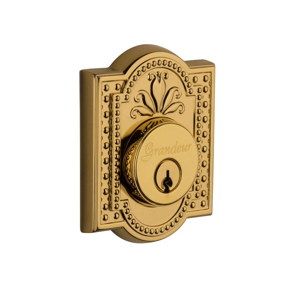 Parthenon Lifetime Brass Double Cylinder Deadbolt - Keyed Differently