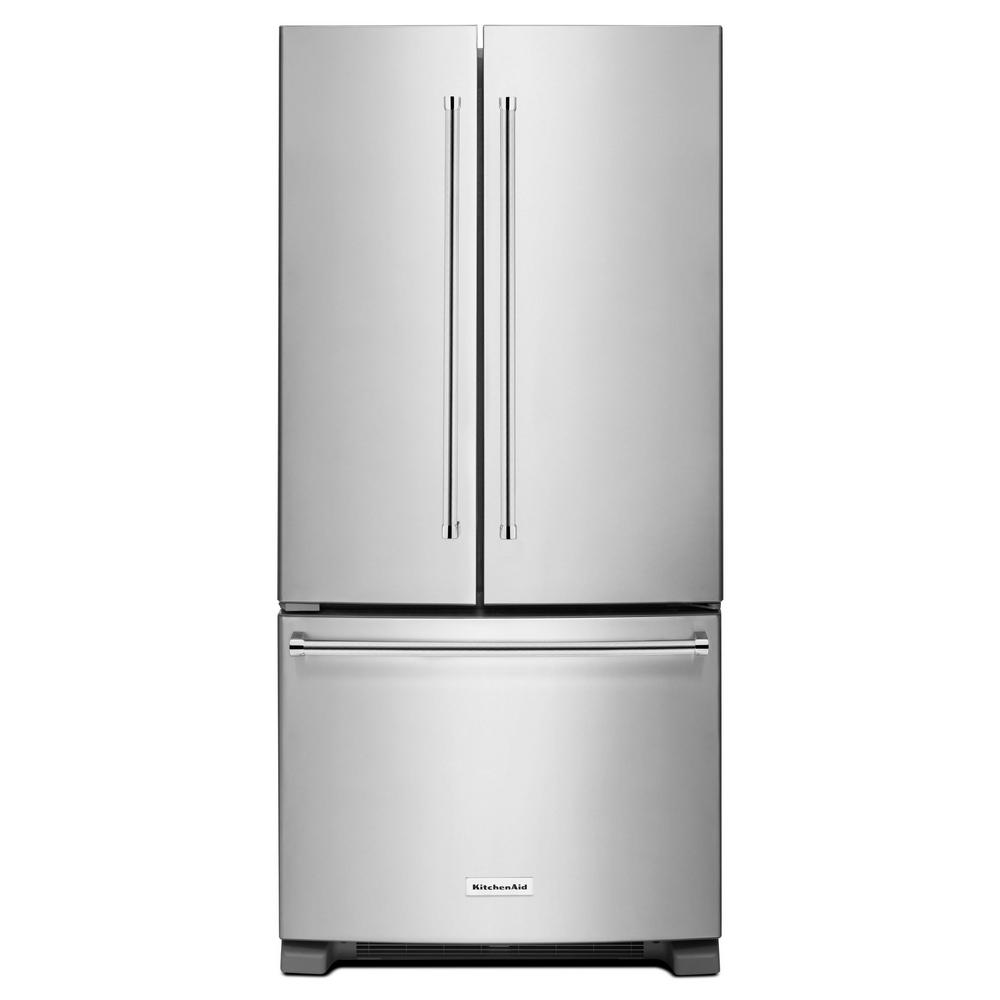 33 in. W 22.1 cu. ft. French Door Refrigerator in Stainless