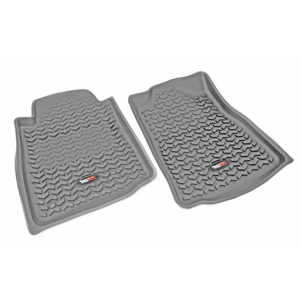 Rugged Ridge Floor Liner Front Pair Gray 2005-2011 Toyota Tacoma Automatic