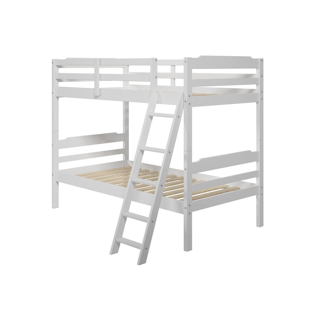 Hayden Twin Over Twin Wood Bunk Bed, White