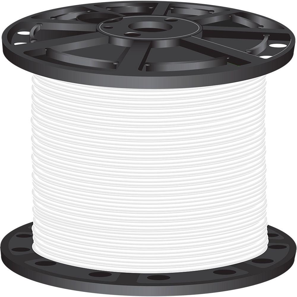 2,500 ft. 4-Gauge White Stranded CU SIMpull THHN Wire