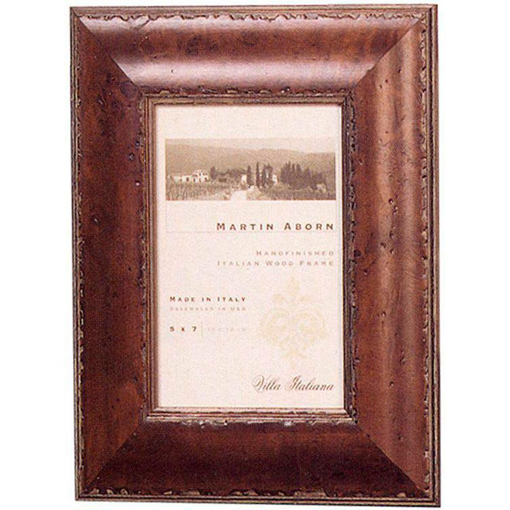 Home Decorators Collection Bennett 1-Opening 5 in. x 7 in. Mahogany Picture Frame