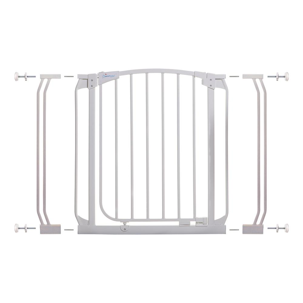 Dreambaby Chelsea 29.5 in. H Auto Close Security Gate in White with Extensions