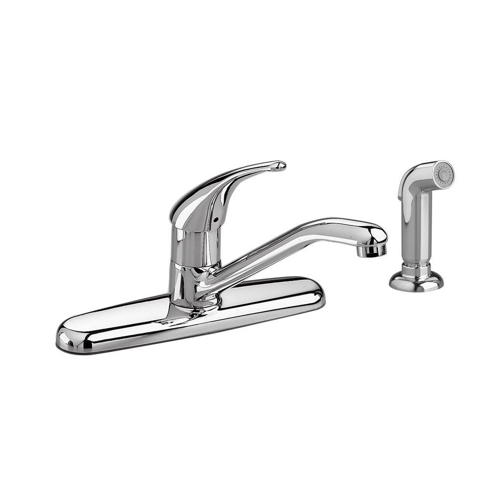 American Standard Colony Soft Single-Handle Standard Kitchen Faucet with Side