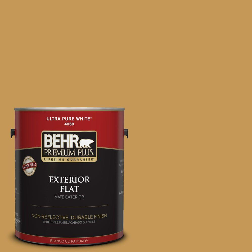 1-gal. #PMD-104 Amber Glass Flat Exterior Paint