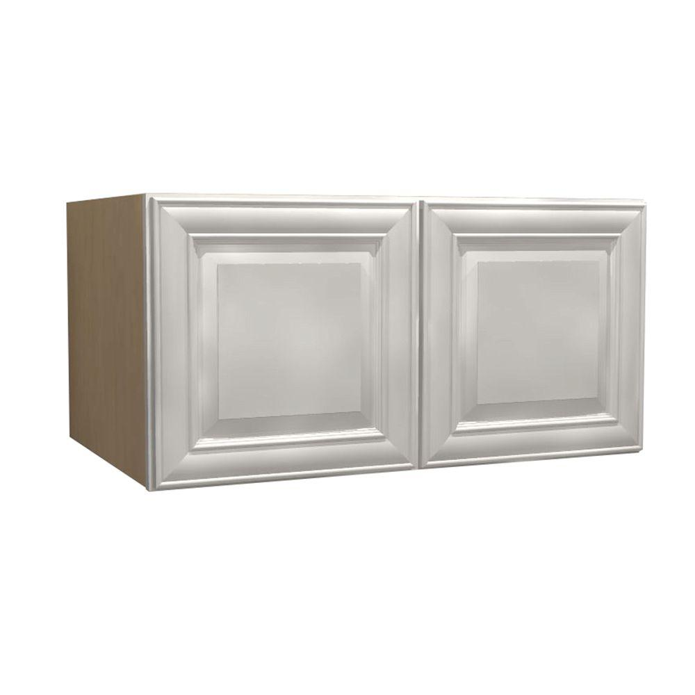 Home Decorators Collection 33x15x24 in. Brookfield Assembled Wall Cabinet with 2
