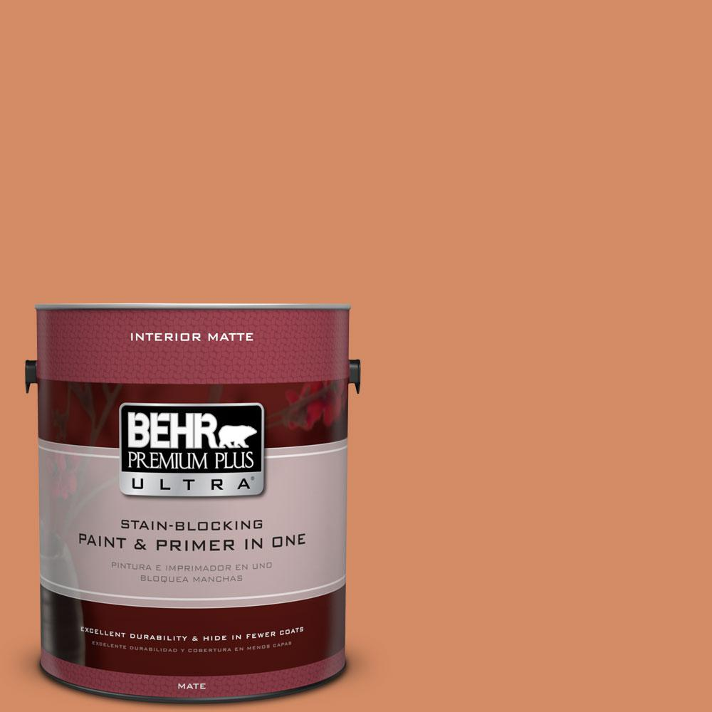 BEHR Premium Plus Ultra 1 gal. #240D-5 Grounded Flat/Matte Interior Paint