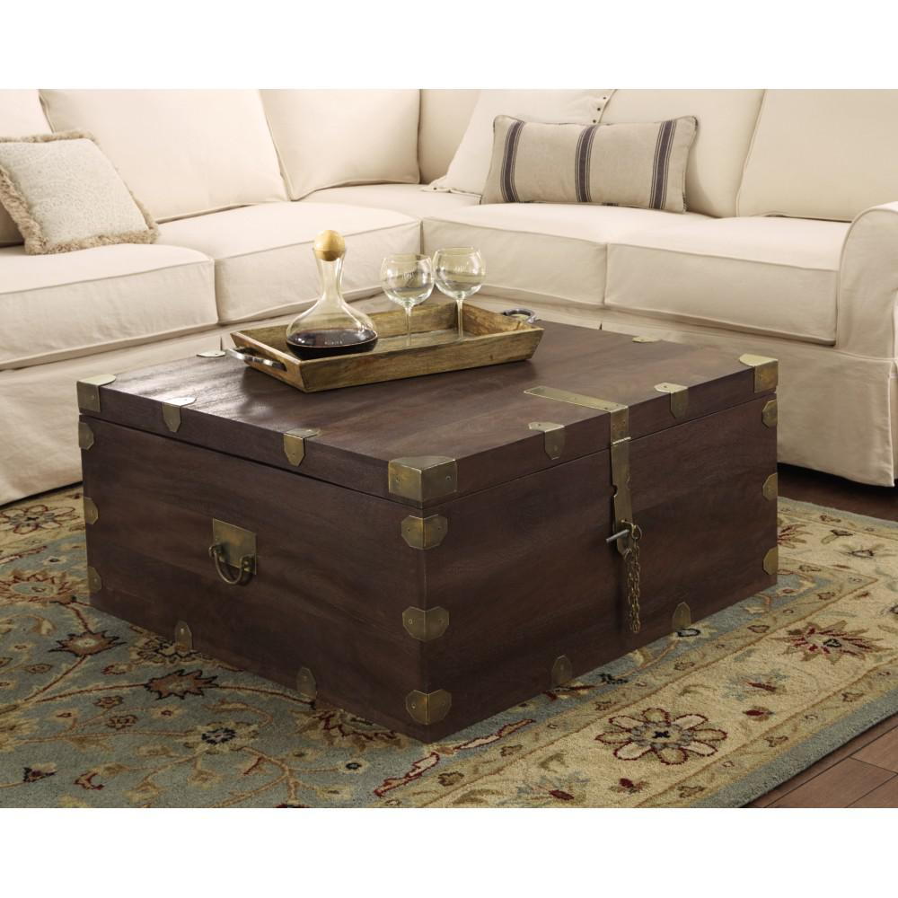 Langston Dark Caffe Built In Storage Coffee Table Part 91