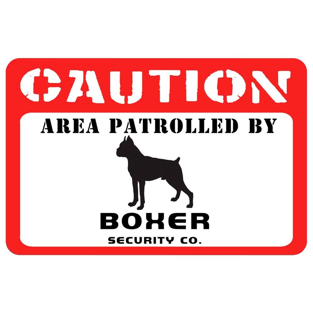 Bungalow Flooring Printed Caution: Boxer 17.5 in. x 26.5 in. Pet