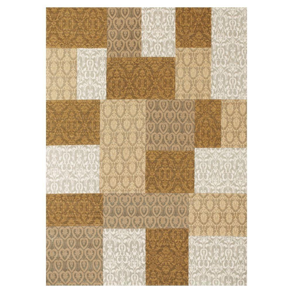 Kas Rugs Elegant Combo Gold 3 ft. 3 in. x 5 ft. 3 in. Area Rug