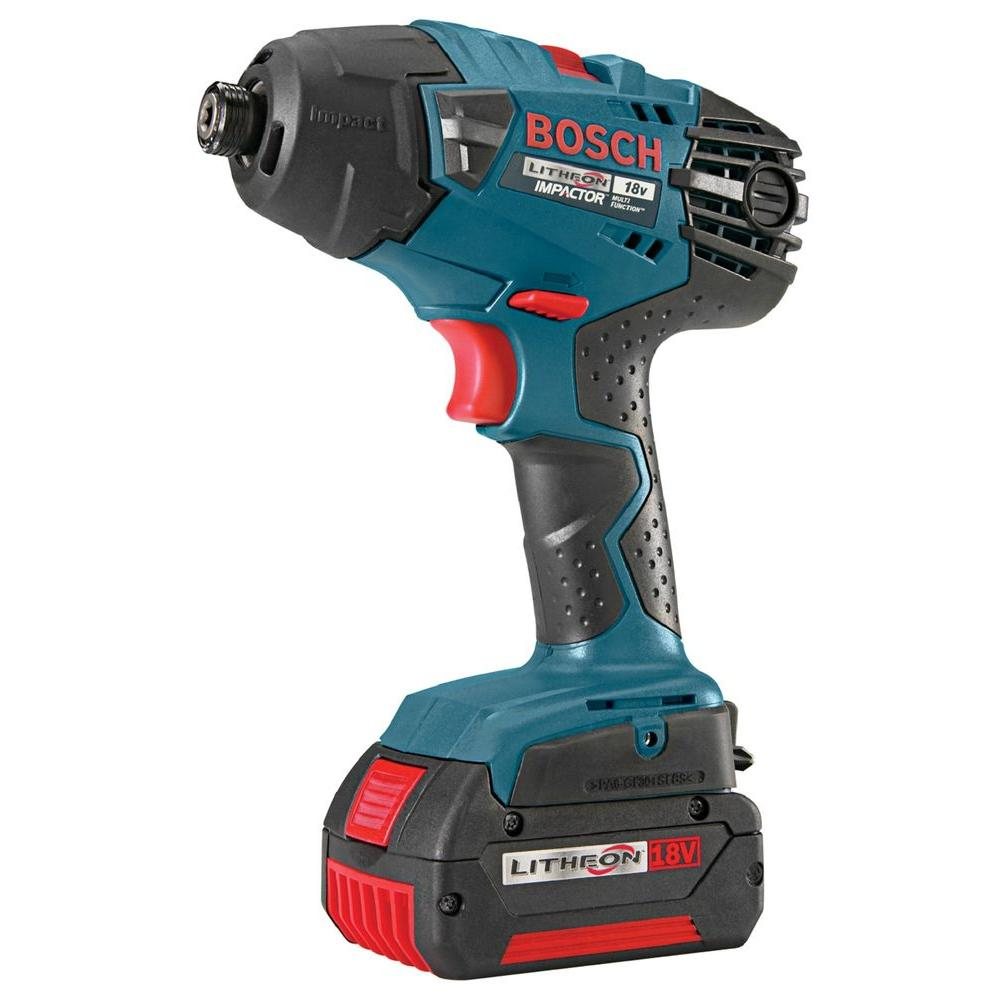 Bosch 18-Volt Lithium-Ion 1/4 in. Hex Impact Drill/Driver with (2) FatPack (4.0Ah) Battery