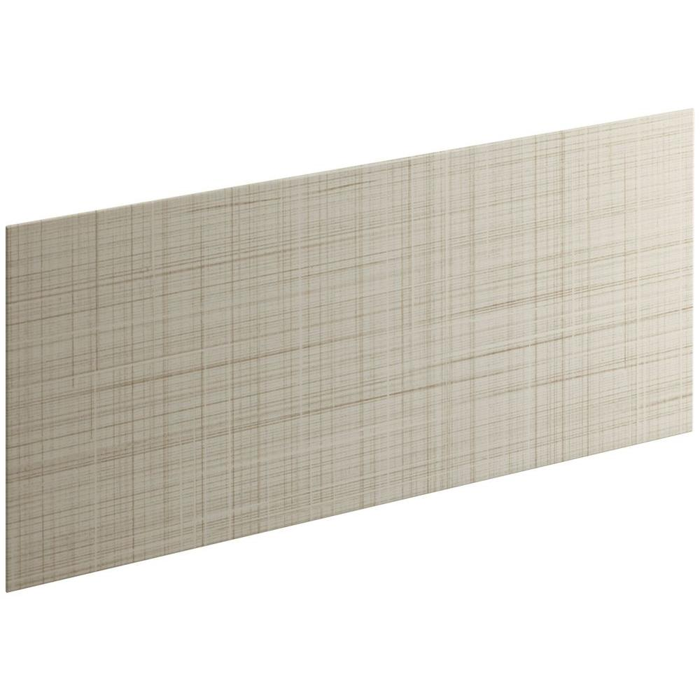 KOHLER Choreograph 0.3125 in. x 60 in. x 28 in. 1-Piece Shower Wall Panel in Sandbar with Linen Texture