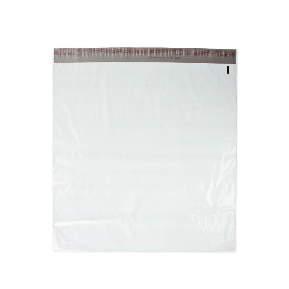 24 in. x 24 in. White / Silver Flat Poly Mailers