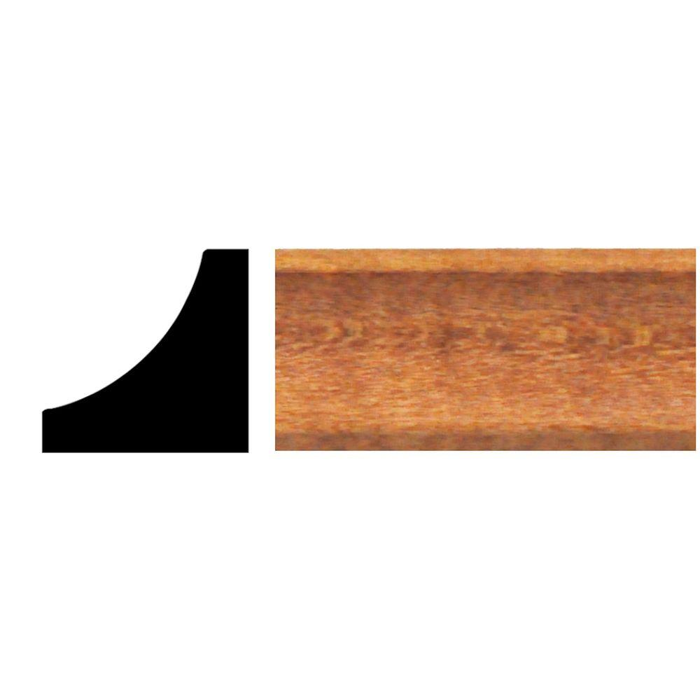 null 3/4 in. x 3/4 in. x 8 ft. Hardwood Stained Cherry Cove Moulding
