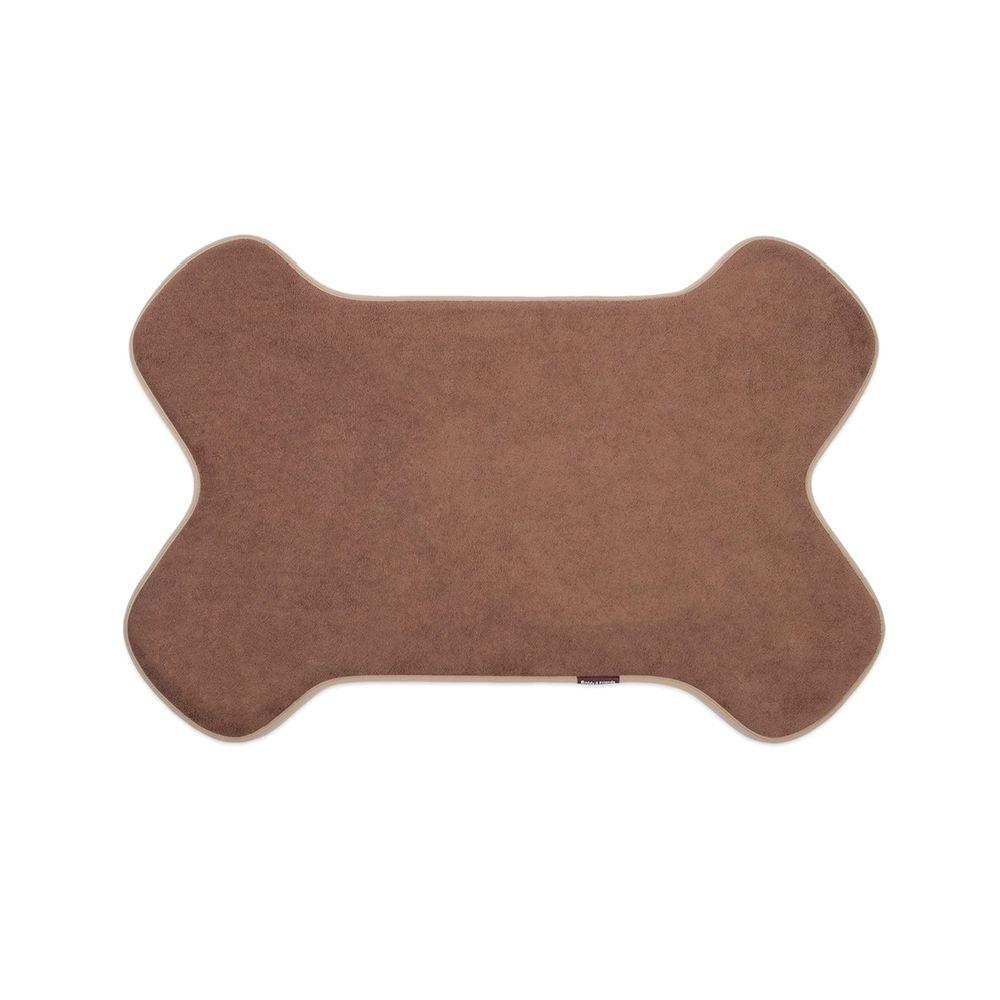 Buddy & Friends Mocha 36 in. x 24 in. Memory Foam Bone Mat-DISCONTINUED