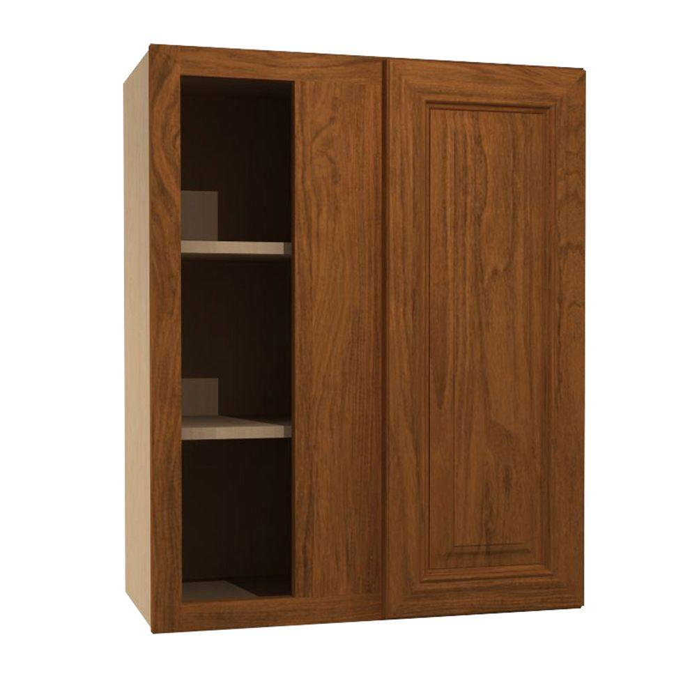 Home Decorators Collection 24x30x12 in. Clevedon Assembled Blind Wall Cabinet with 1 Door Left Hand in Toffee Glaze