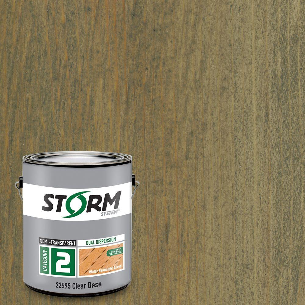 Storm System Category 2 1 gal. Weatherfront Exterior Semi-Transparent Dual